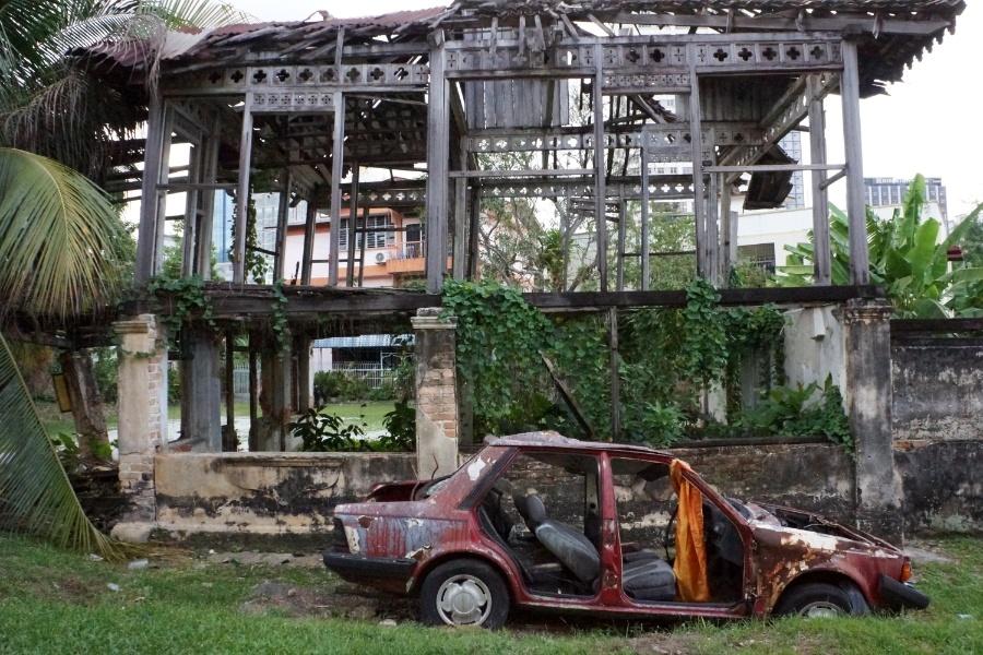 Verfallenes historisches Haus, Kuala Lumpur