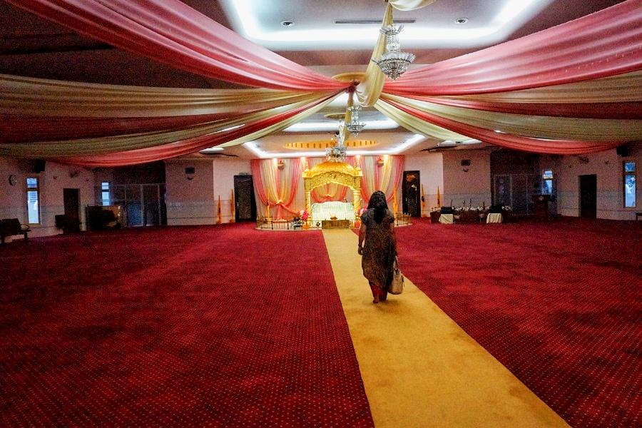 Versammlungsraum im Sikh Tempel